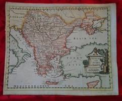 Antik , kb. 250 éves térkép