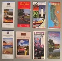 Retro térkép gyűjtemény Észak-Amerika, 8 db (2)