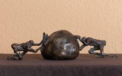 Tóth Ernő - Sziszifusz című bronz szobora,  INGYEN POSTA, VISSZAVÁSÁRLÁSI GRANCIA, SZERTIFIKÁCIÓVAL!