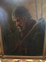 Favágó festmény