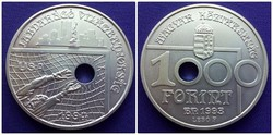 Labdarúgó VB 1994 ezüst 1000 Forint 1993 /id2107/