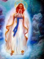 Lourdesi Szűz Mária porcelán falikép
