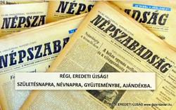 1977 január 28  /  NÉPSZABADSÁG  /  SZÜLETÉSNAPRA RÉGI EREDETI ÚJSÁG Szs.:  6060