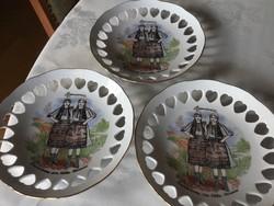 Apulum porcelán áttört tányér, 19 cm