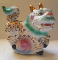 Porcelán Kínai FOO kutya ,15 x 16 x 8 cm-es
