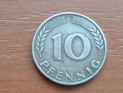 NÉMET NSZK 10 PFENNIG 1970  F