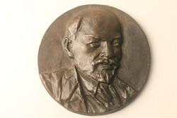 Lenin bronz plakett