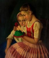 Glatz Oszkár Lánykák babával