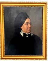 Idős hölgy portréja  Barabás Miklos