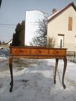 Szép neobarokk konzolasztal / 3 fiókos fésülkődő asztal tükörrel