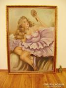 Balerina lila ruhában