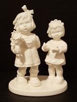 Hummel páros kislány figura, 14,5 cm --- FEHÉR