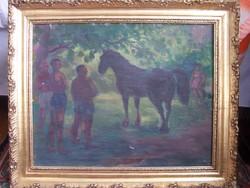 Nagybányai festő XX.sz. eleje: Tisztáson