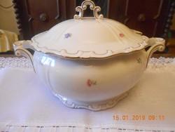 Zsolnay barokk, tollazott leveses tál