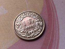 1916 svájci ezüst 1 frank 5 gramm 0,835