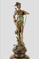 Diana a vadászat istennője - bronz szobor