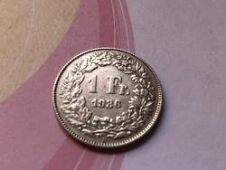 1936 svájci ezüst 1 frank 5 gramm 0,835 Ritkább
