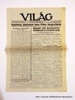 1946 március 19  /  VILÁG  /  ÚJSÁG REPLIKA! Szs.:  8209