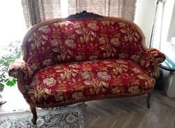 Neobarokk Szalongarnitúra (1 db kanapé és 4 db fotel)