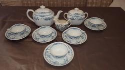 Antik angol Cauldon fajansz teás készlet