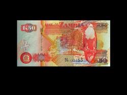 50 KWACHA - UNC - ZAMBIA - 2003 már ritka!