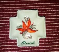 Ritka Zsolnay porcelán hamutartó PARÁD felirattal
