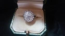 0.30ct Briliáns (40 db) 585/14kr.arany gyűrű.ÚJ!!!!