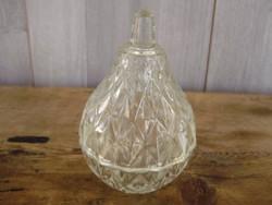 Körte alakú,csiszolt üveg fűszertartó