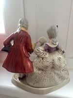 Jelzett német porcelán pár