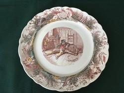"""Ritka Villeroy & Boch Wallerfangen vadászjelenetes tányér """" A prémvadász"""""""