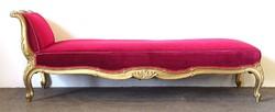 0U695 Antik aranyozott barokk szófa kerevet