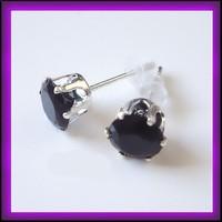 Ezüsözött  CZ kristály fülbevaló EBF-K33-2