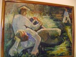 Csató György  (George Csato) 85 x 65 cm Eredetiségre örök garancia