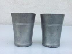 Vízes pohár ónból 2 db - jelzett