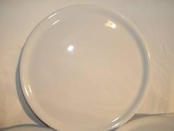 Tényér - ÓRIÁS 35 cm jelzett - porcelán - pizzatányér - JELZETT  - vakító fehér