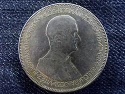 """Szép, ezüst """"hajas"""" Horthy 5 Pengő 1930 (id5613)"""