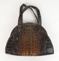 0U956 Antik krokodilbőr női táska
