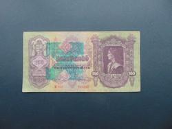 100 pengő 1930 + Nyilaskereszt Felülbélyegzés !!!