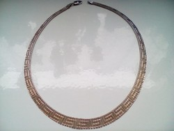 Csodás görög mintás ezüst nyakék