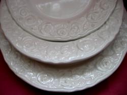 Franco Giorgi QUADRIFOGLIO regisztrált rózsás modell shabby tányér szett