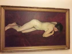 Fáyl Frigyes fekvő akt című festménye