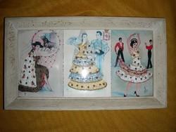 Elsi Gumier selyemmel hímzett képeslapok