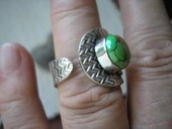 925 ezüst gyűrű állítható türkizzel