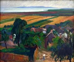 """Nagy Gyula (1922-1966 ) """" Balatoni táj """""""