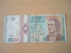 ROMÁNIA 1000 LEI 1991 D. SZÉRIA