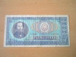 ROMÁNIA 100 LEI 1966 C SZÉRIA