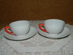 Zsolnay kávás csészék párban.