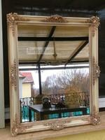 Provence bútor, antikolt fehér blondel tükör 1.