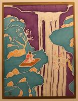 Japán selyemfestmény
