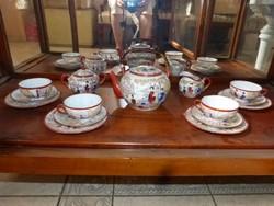 Régi, 4 személyes japán teáskészlet